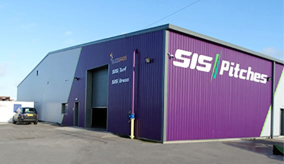 Photo outside of SIS Pitches warehouse premises