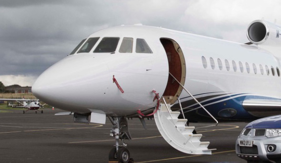 Photo of passenger aeroplane on Carlisle Airport runway