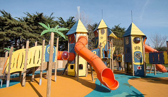 Photo of a colourful playground