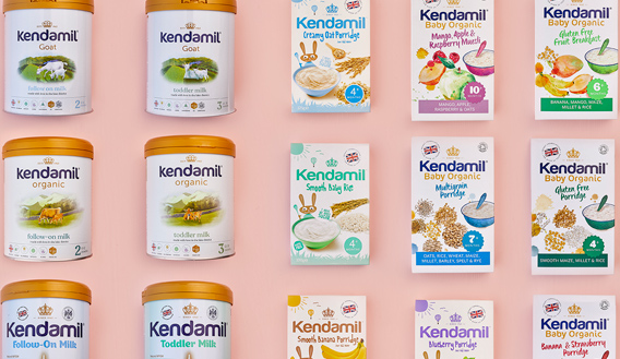 Photo montage of Kendal Nutricare products