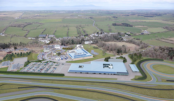 Aerial photograph of M-Sport Evaluation Centre