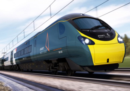 Photo of a high-speed train in motion