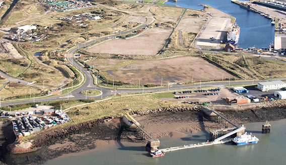 Aerial photo of Barrow Waterfront